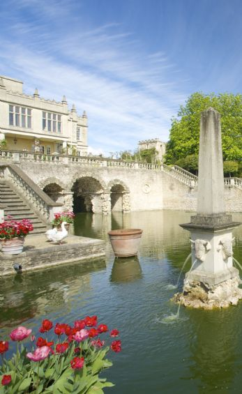 stately home garden weddings Nr Castle Combe, Wiltshire