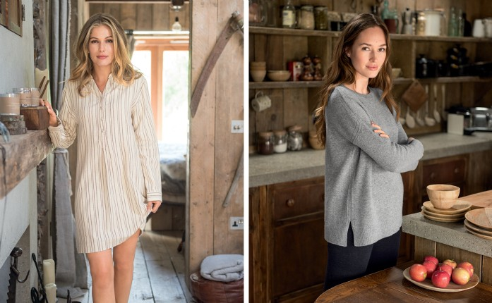 Autumn Winter shoot by Celtic and Co in wooden cabin called Firefly by unique homestays in Cornwall