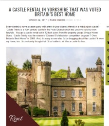 A Castle Rental in Yorkshire That Was Voted Britain´s Best Home