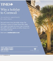 Win a Holiday to Cornwall