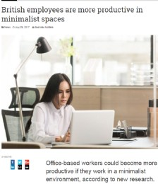 British Employees Are More Productive in Minimalist Spaces