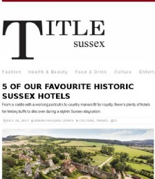5 of Our Favourite Historic Places to Stay in Sussex