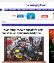 Less Is More: Seven Out of Ten Brits Feel Stressed by Household Clutter