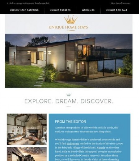 Unique Home Stays ® New Luxury Holiday Home Stays