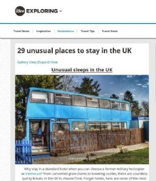 29 Unusual Places to Stay in The UK