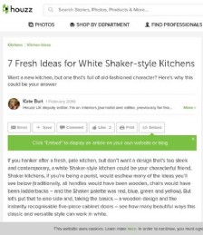 7 Fresh Ideas for White Shaker-style Kitchens