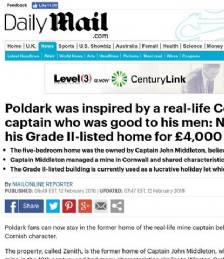 Poldark was inspired by a real-life Cornish mine captain and now you can rent his Grade II-listed home