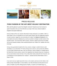 POSH PASSION IN THE UK'S BEST HOLIDAY DESTINATION