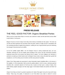 THE FEEL GOOD FACTOR: Organic Breakfast Parties