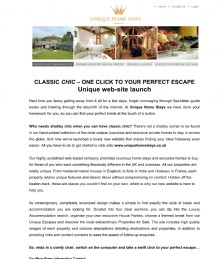 CLASSIC CHIC – ONE CLICK TO YOUR PERFECT ESCAPE