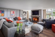 Curl up by the roaring fire in the lounge