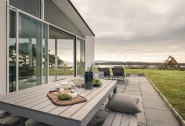 Enjoy stunning views from the chic outside space