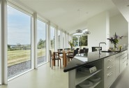 With views of the sea and horizon from the spacious kitchen
