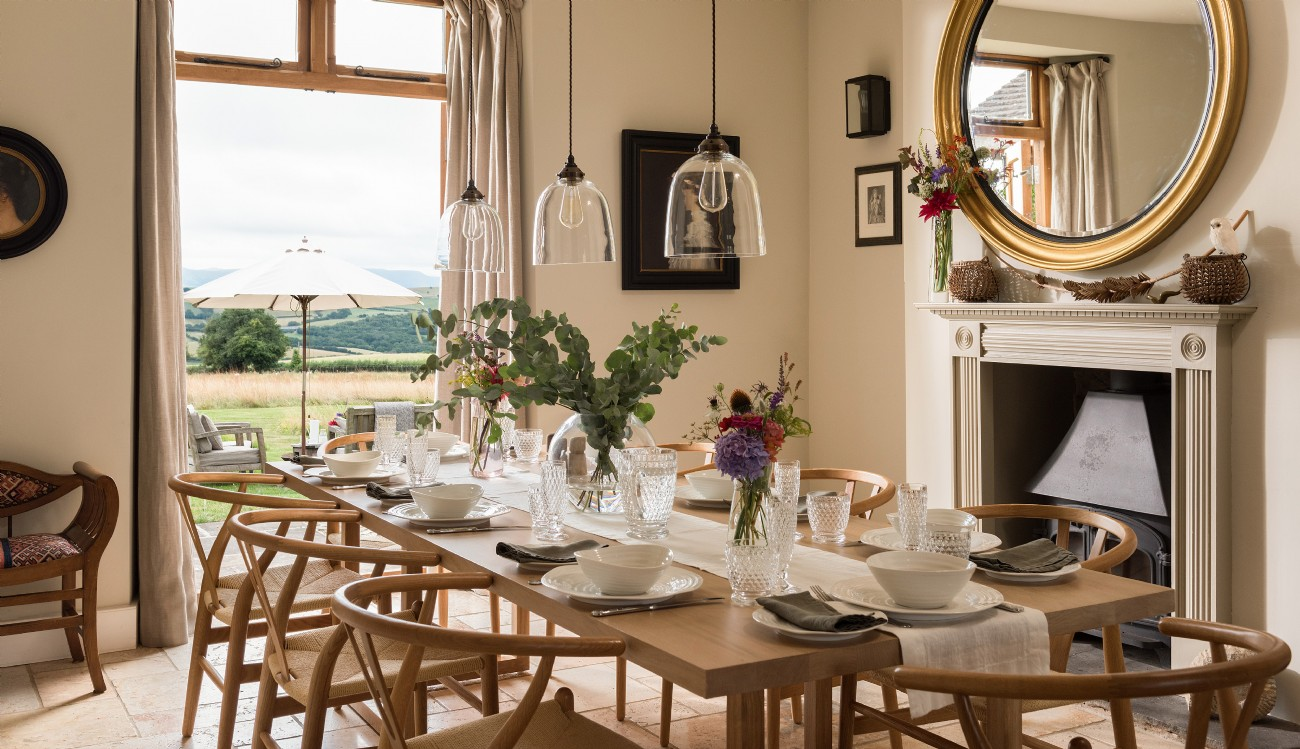 Herefordshire luxury self-catering farmhouse near Hay-on-Wye