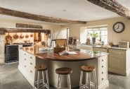 The main kitchen with a four oven Aga