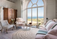 Magnificent coastal views are enjoyed from the sitting room