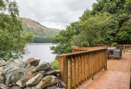 The decked area outside Aquila overlooking Haweswater Lake