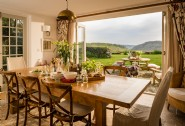 The perfect spot for breakfast, gazing across the valley