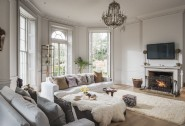 Twinkling chandeliers and open fires feature throughout