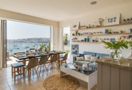 The informal kitchen dining area is perfect for long, lazy brunches