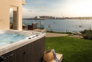Enjoy the magnificent views from the hot tub