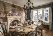 The ground floor dining room is a wonderful space for hosting dinner parties