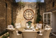The suntrap courtyard is perfect for lunch al fresco
