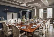 Gather in the large dining room with space for all the family