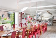 Gather together in the open-plan kitchen-diner