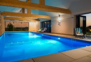 The stunning 15 metre spring-fed indoor swimming pool