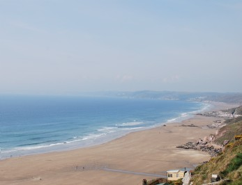 self-catering beach hut Whitsand Bay