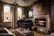 The piano lounge at Castle Trinity, near The Peak District