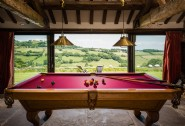 The snooker room enjoys views over the rolling hills beyond