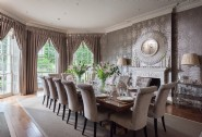 Elaborate dining room at Cornucopia, a luxury self-catering manor house