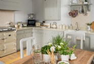 The kitchen-diner is well-equipped for home cooked meals