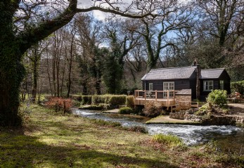 Self-catering woodland cottage for hire in the Glynn Valley, Cornwall
