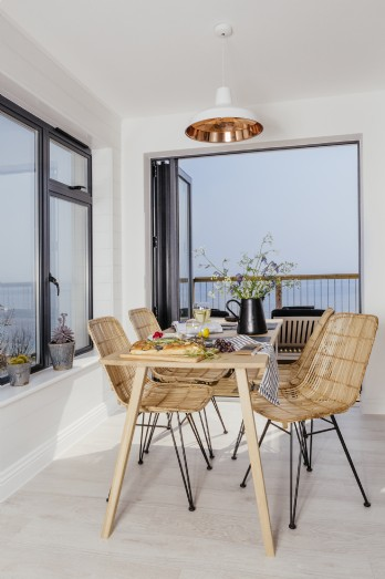 Scandi beach house interiors
