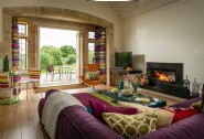 There is underfloor heating and an Italian log fire to enjoy in colder months