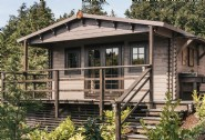 Ebony Wood is a luxury self-catering woodland cabin in North Wales