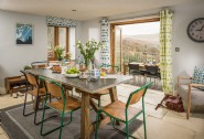 The open plan kitchen-dining room in the main house
