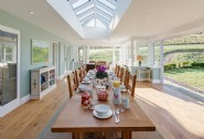 The light and spacious breakfast room is perfect for lively family breakfasts
