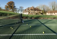 Enjoy family games of tennis at Featherdown