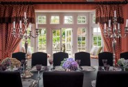 Dining room with views through the French doors