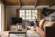 Luxury log cabin interiors