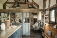 Hollyhocks flaunts a vintage-industrial style kitchen