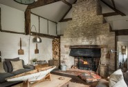Bask in front of the crackling open fire at this luxury self-catering home