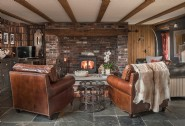 Relax beside the fire with brandy, whiskey or port from the owners collection