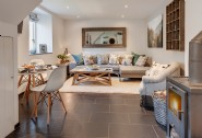 The stylish open plan living area