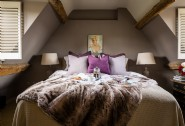 The sumptuous super king-size bedroom at Little Scarlet, Cotswolds