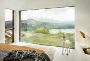 The dramatic view of Caragh lake from the master bedroom